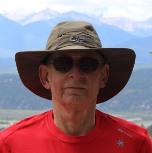 The author hides beneath an Outdoor Research Sombriolet, his recommended sun hat for 2015.