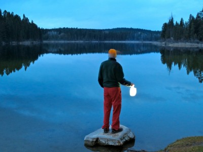 Backpacking with Luci® lights
