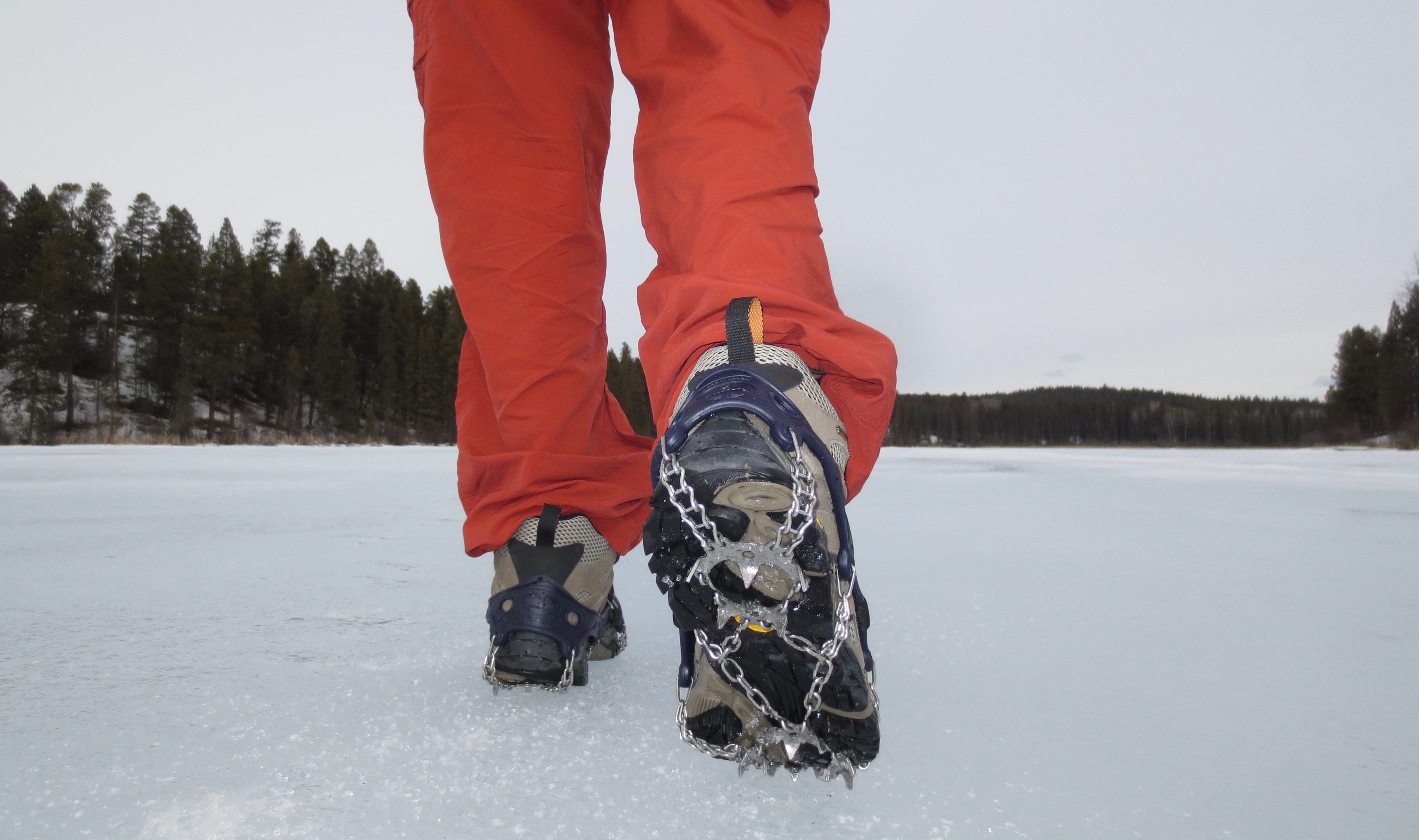 Spring hiking with crampons