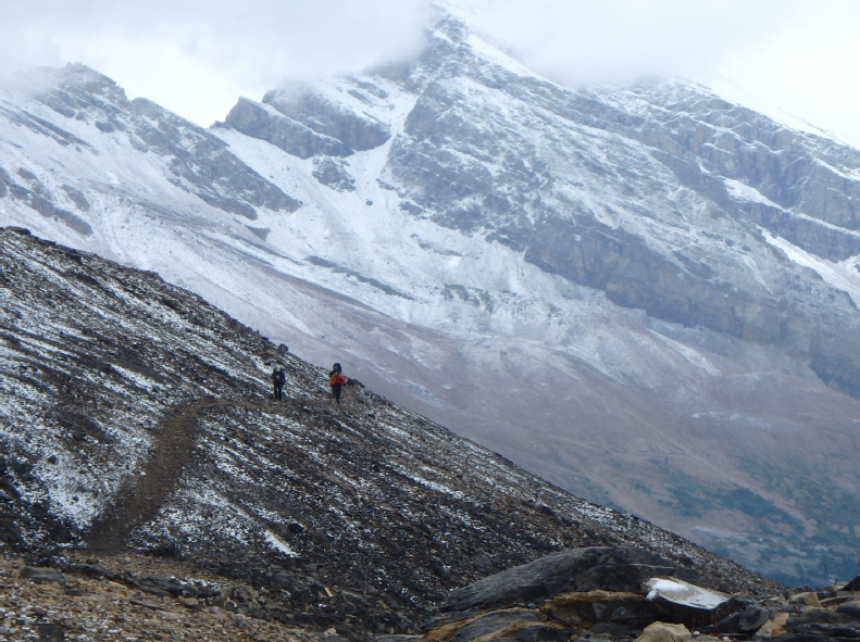 Backpacking to Maligne with Mary